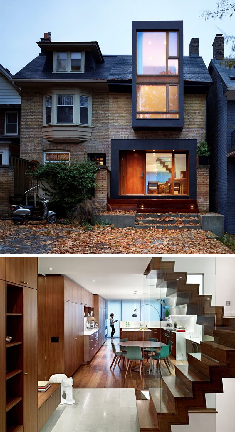 Celebrate Canada Day By Looking At These 10 Incredible Houses In Canada // This 100 year old semi-detached family home in Toronto, Ontario, was renovated by Drew Mandel Architects.