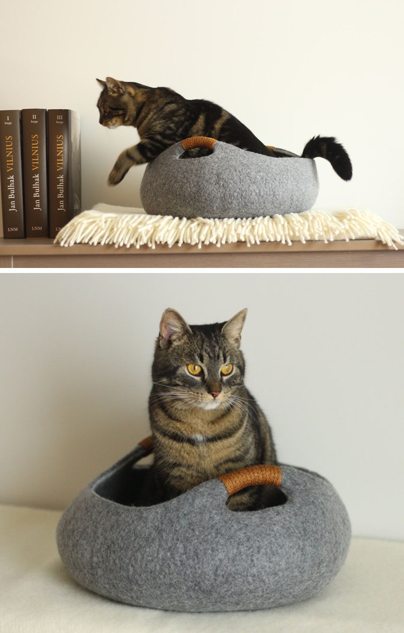 pretty design modern cat bed. These felted cat beds would blend in perfectly with any modern interior  design Cat Beds Don t Have To Look Like A Bed CONTEMPORIST