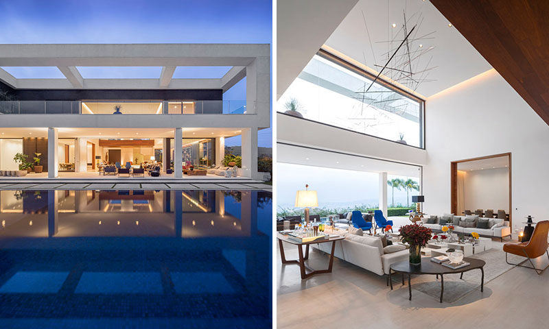 This contemporary home with various indoor and outdoor living areas, mixes architecture, art and design to create a laid-back yet sophisticated ambience.
