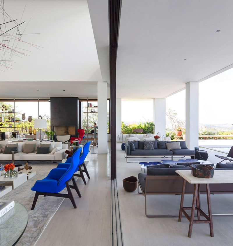 This living room opens up to the outdoor living space, perfect for indoor/outdoor living.