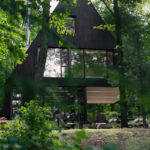 This Contemporary Cabin Is Surrounded By A Hemlock Forest