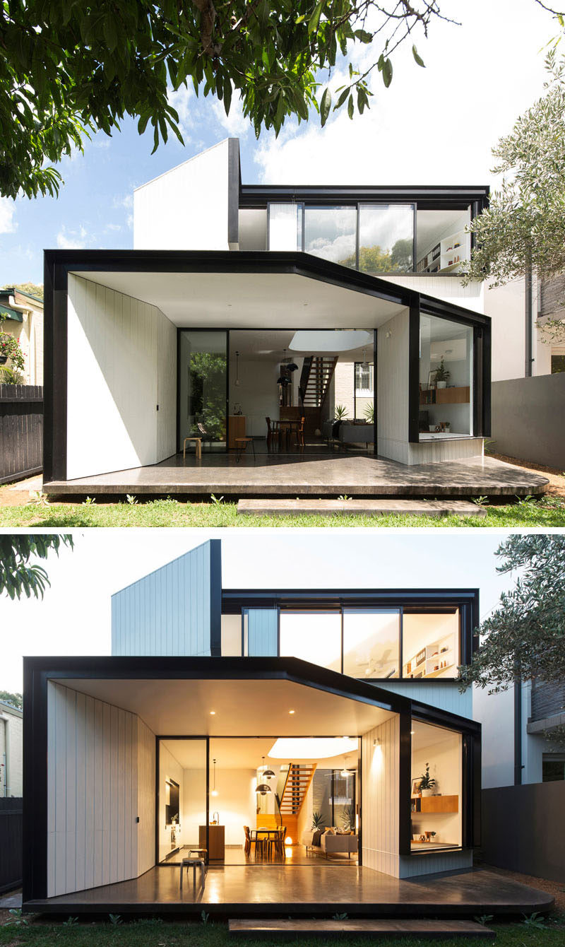 christopher polly designs an angular rear extension for