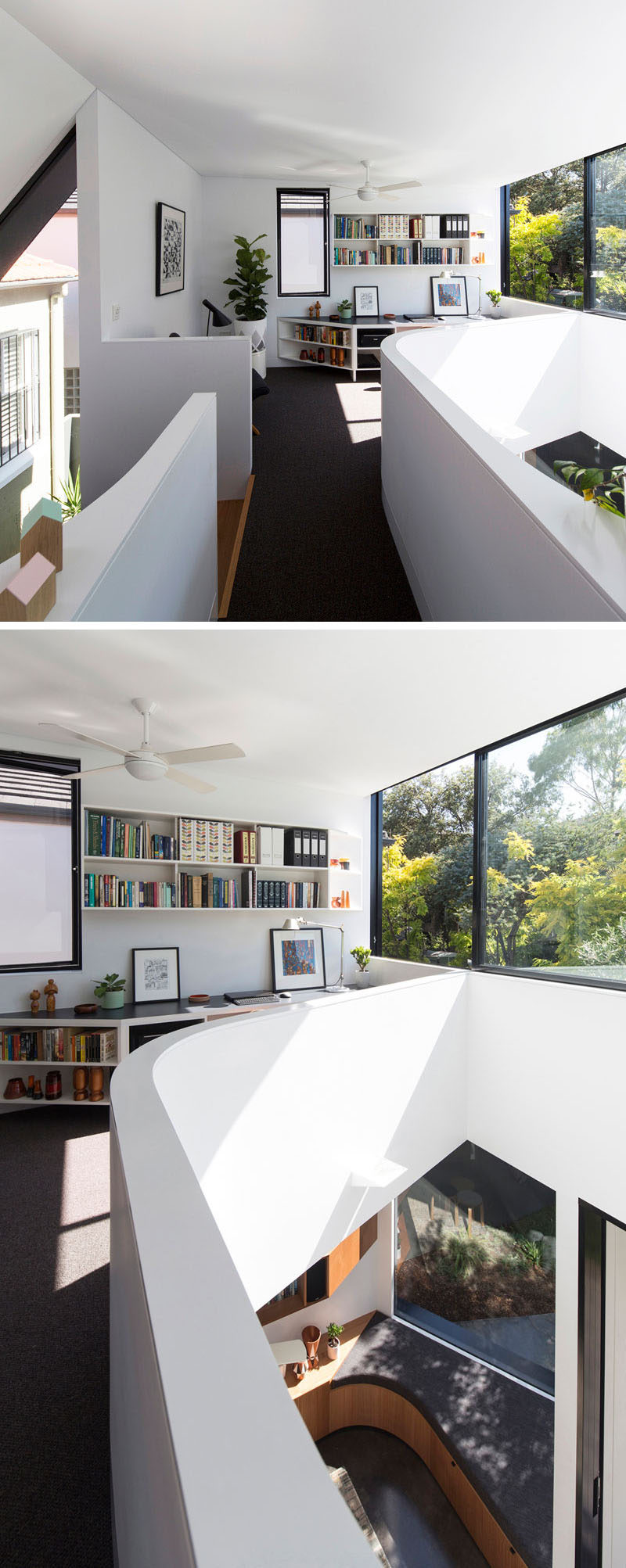Christopher Polly designs an angular rear extension for this house ...
