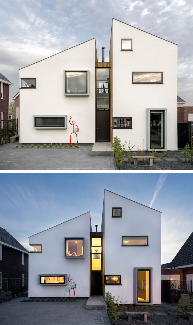 This Home Located In Roosendaal The Netherlands Has Been Designed As A Deconstruction Of Traditional Dutch House Silhouette With Several Floors For
