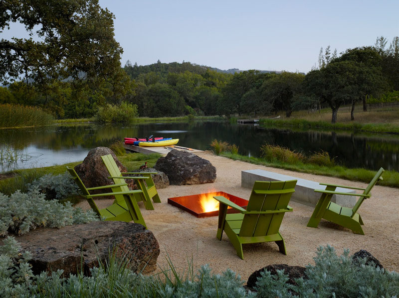 This is a perfect spot for relaxing and enjoying a summer evening around a firepit.