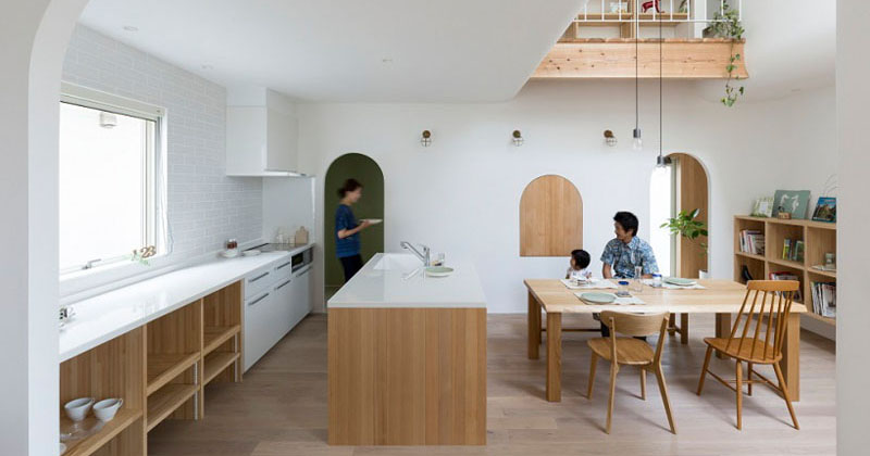 This Japanese Home Is Filled With Arched Doorways