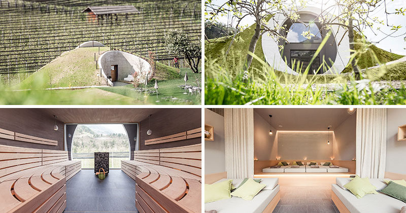 Tucked into a rolling hill and sitting on the edge of an apple orchard overlooking the mountains, you'll find the the Applesauna and Wellness Centre, the latest addition to the Apfel (Apple) Hotel in Saltusio, Italy.