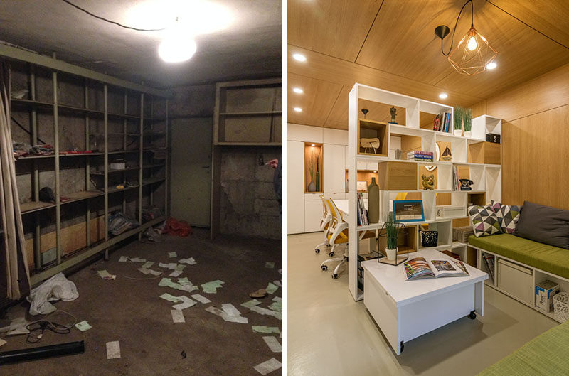 Before & After - This Old Garage Has Been Converted Into An Architect's Office
