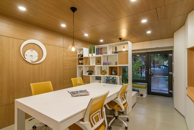 This small office was once an old, run-down garage.