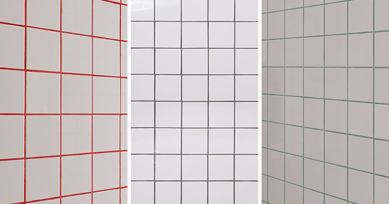 See How Three Colors Of Grout Were Used With The Tiles In This ...