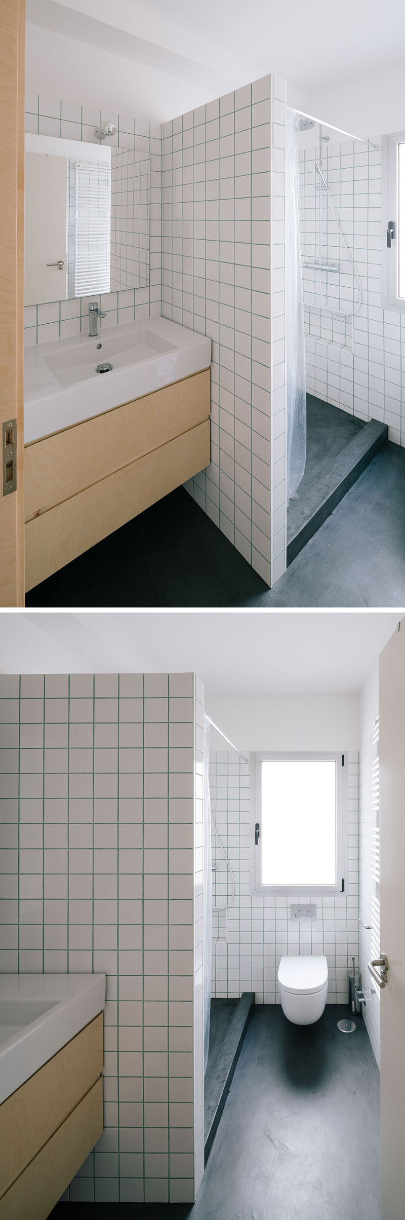 See How Three Colors Of Grout Were Used