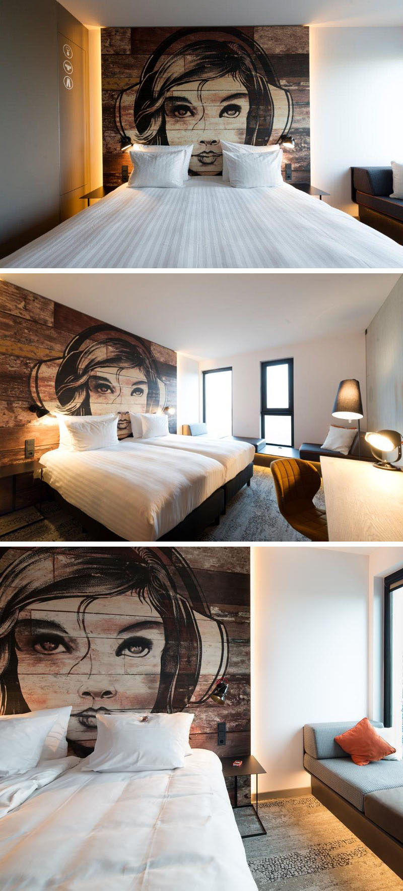 Headboard design idea mural painted on wood contemporist for Mural headboard