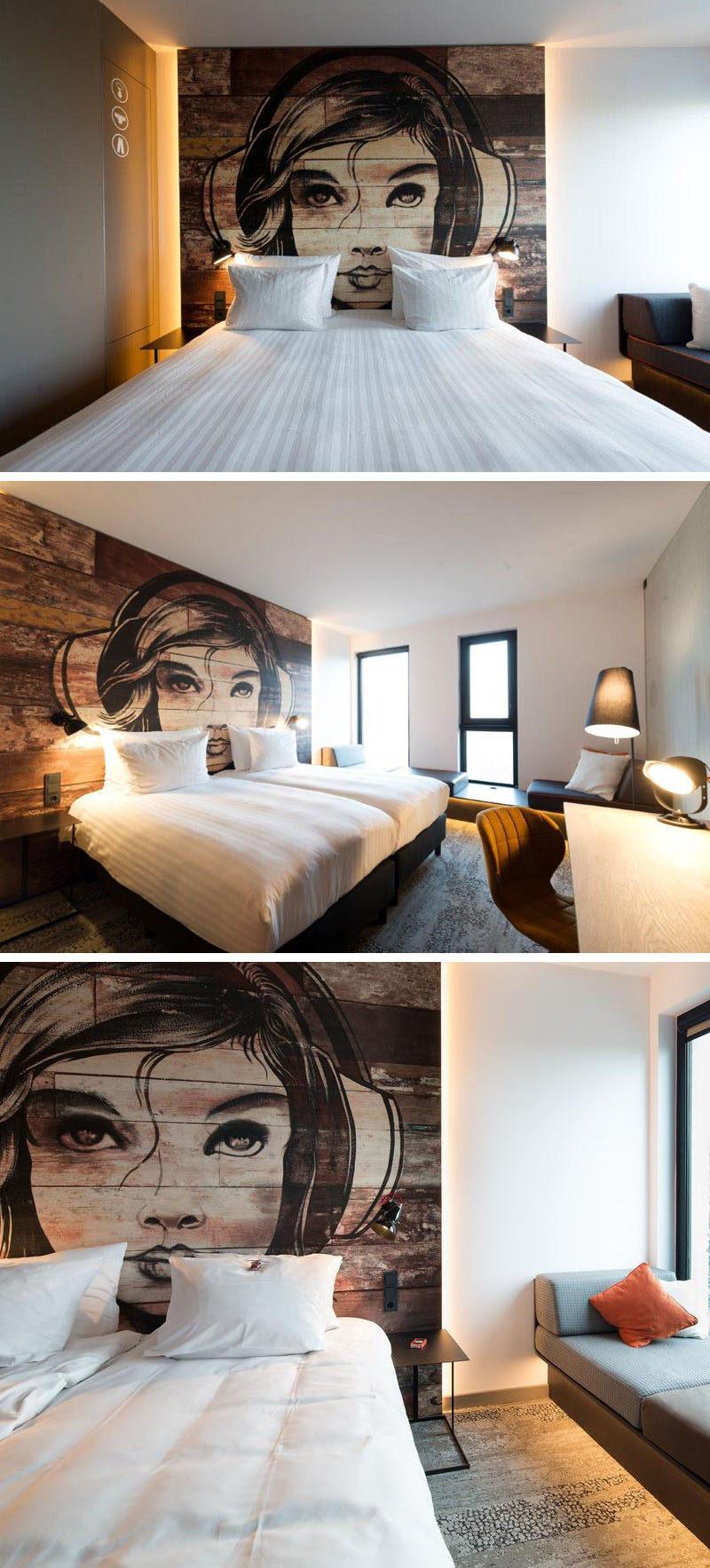 Headboard Design Idea - Mural Painted On Wood