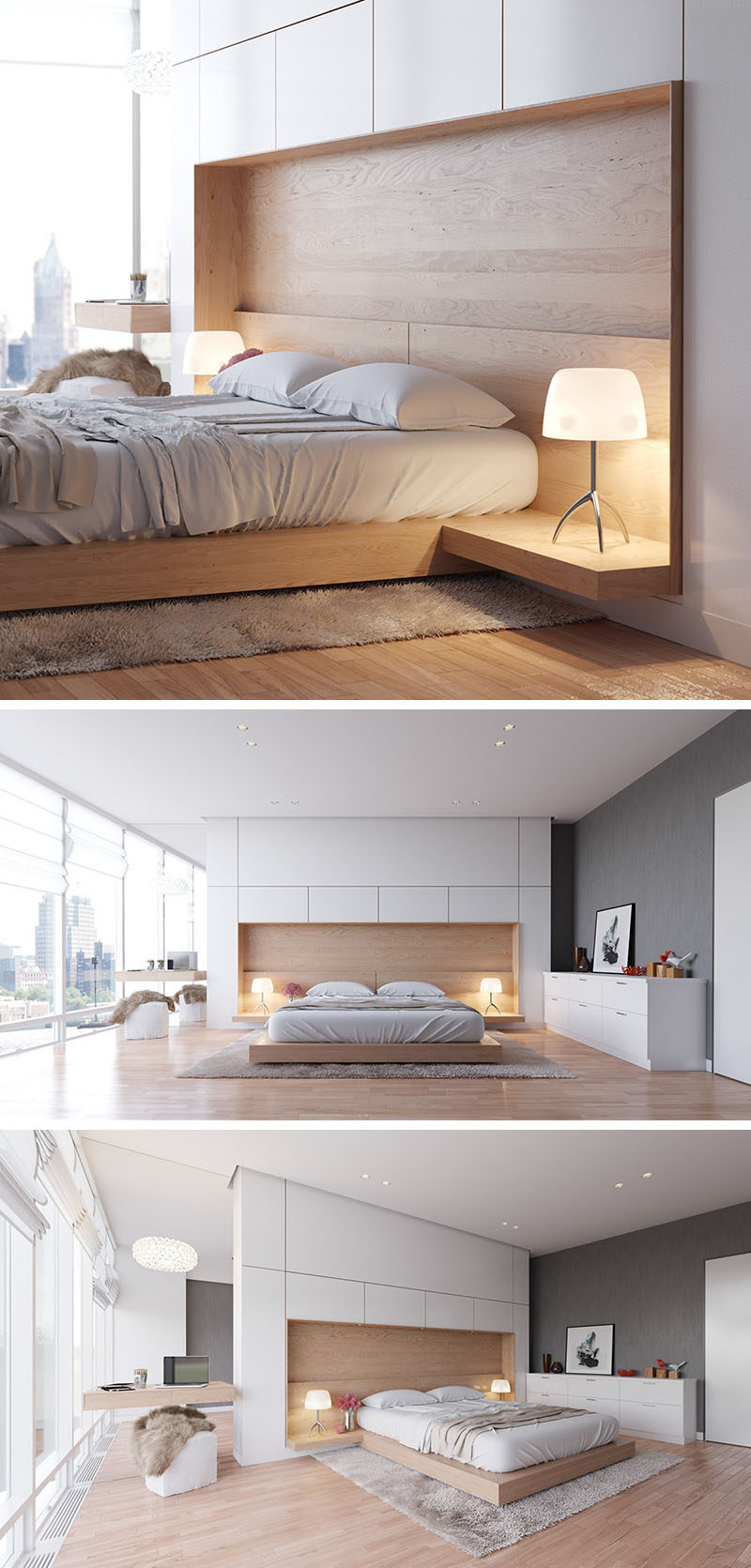 bedroom design idea bine your bed and side table into one