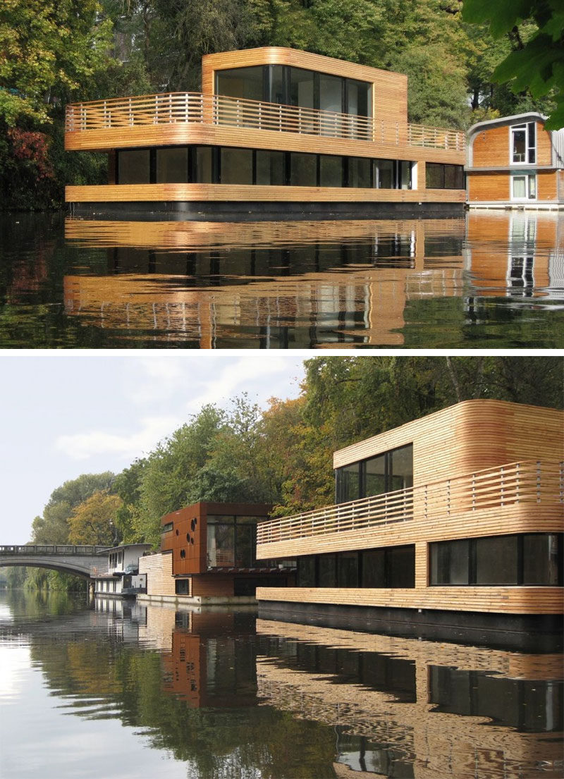 11 Awesome Examples Of Modern House Boats Contemporist