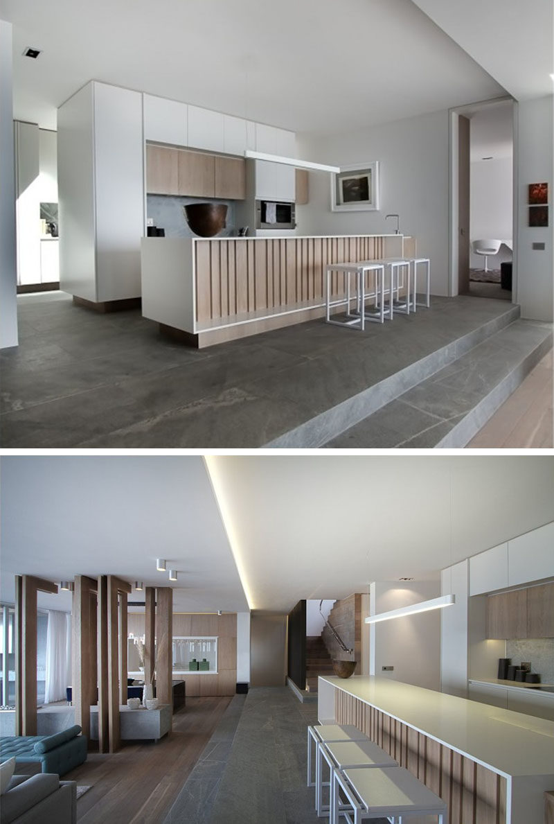 Kitchen Island Lighting Idea - Use One Long Light Instead Of Multiple Pendant Lights