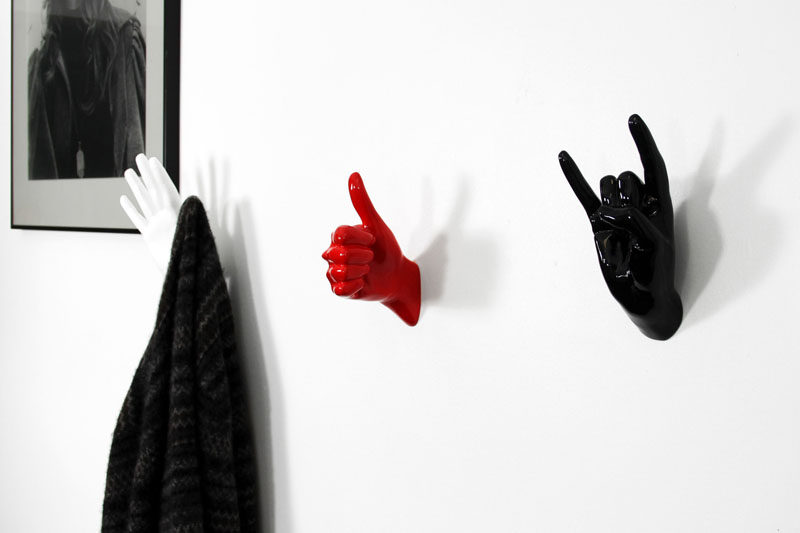 13 Ideas For Creating A More Manly, Masculine Bathroom // Fun towel hooks can act as both functional elements and a quirky way to inject the bathroom with some personality.