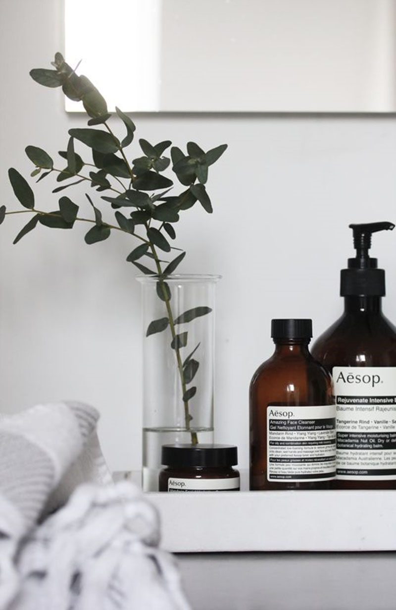 13 Ideas For Creating A More Manly, Masculine Bathroom // Adding eucalyptus to the bathroom may seem like a girly thing to do but all the smart men are doing it. When the steam combines with the eucalyptus the whole bathroom smells amazing and, if you ever find yourself suffering from the dreaded man cold, the eucalyptus will help relieve symptoms of congestion and speed up the recovery process!