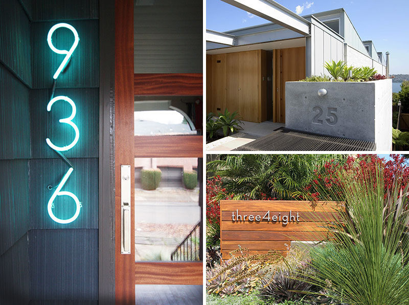 To give you some inspiration, here are 10 examples of modern house numbers that contribute to the overall personality of the home while serving their function as address indicators. #ModernHouseNumber #HouseNumbers #HomeDecor