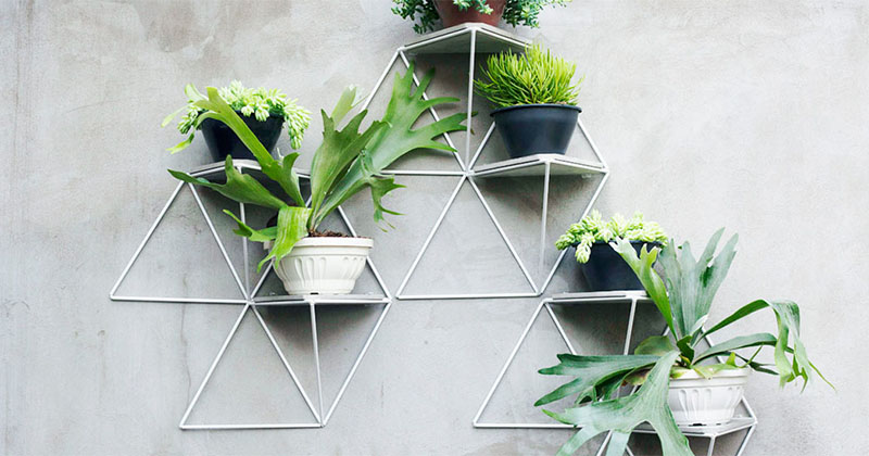 These Modular Geometric Shelves Have Just Enough Space For