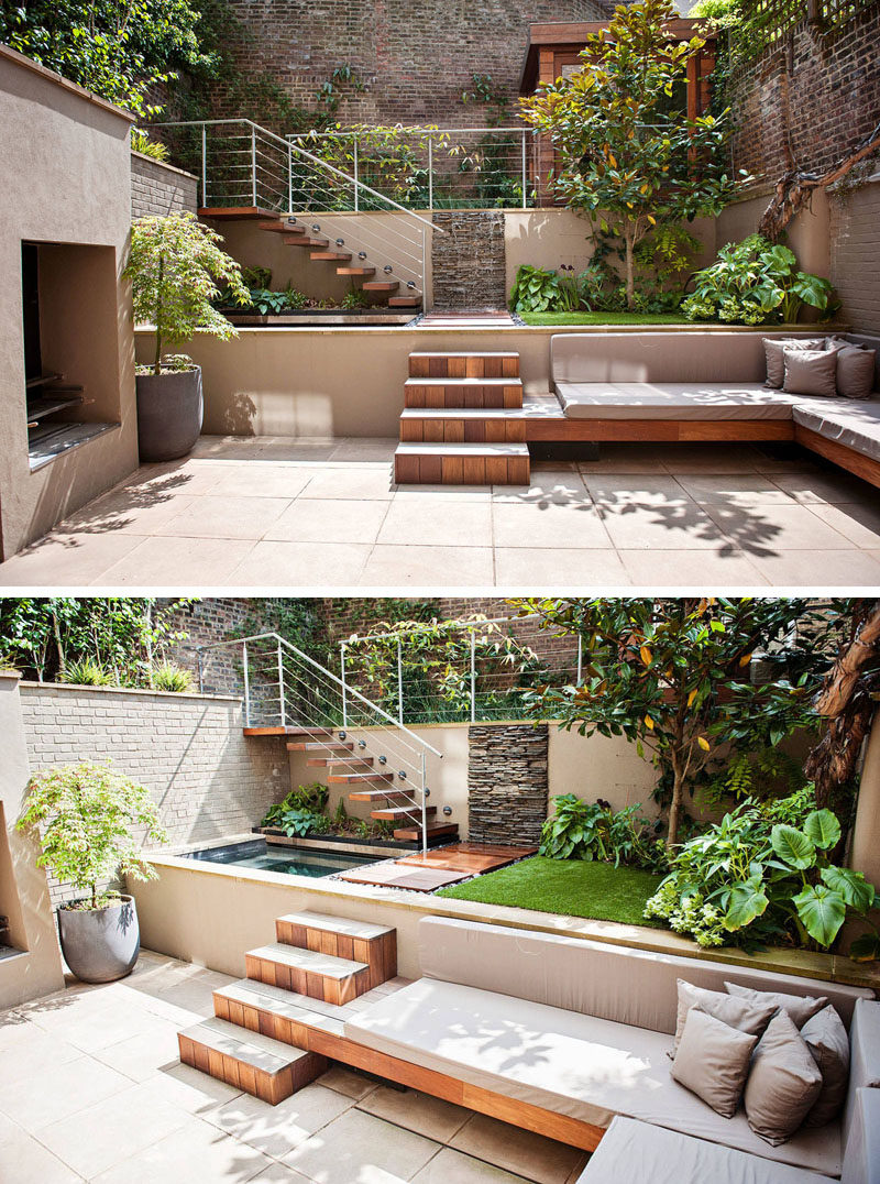 13 multi level backyards to get you inspired for a summer backyard makeover contemporist. Black Bedroom Furniture Sets. Home Design Ideas