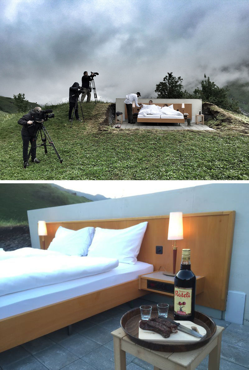 Fancy Sleeping Under The Stars In Swiss Alps Consider This Open Air Hotel