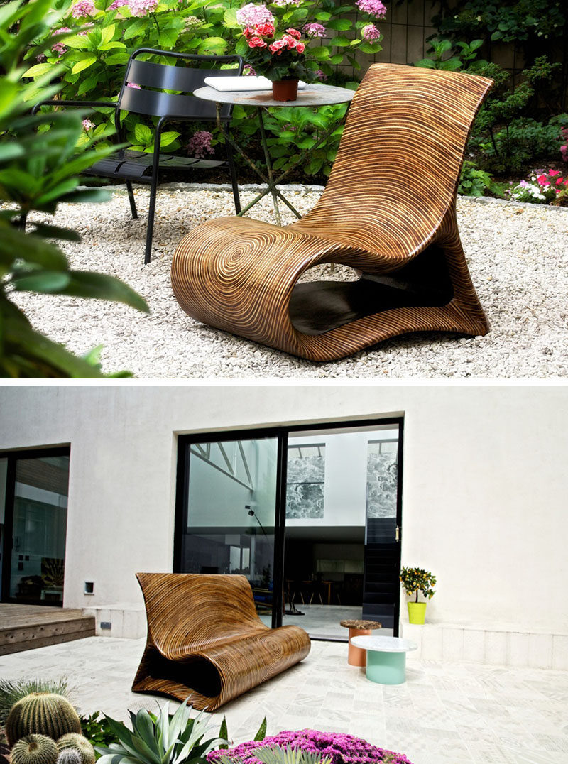 12 Outdoor Furniture Designs That Add A Sculptural Element To Your Backyard  // An Intricate