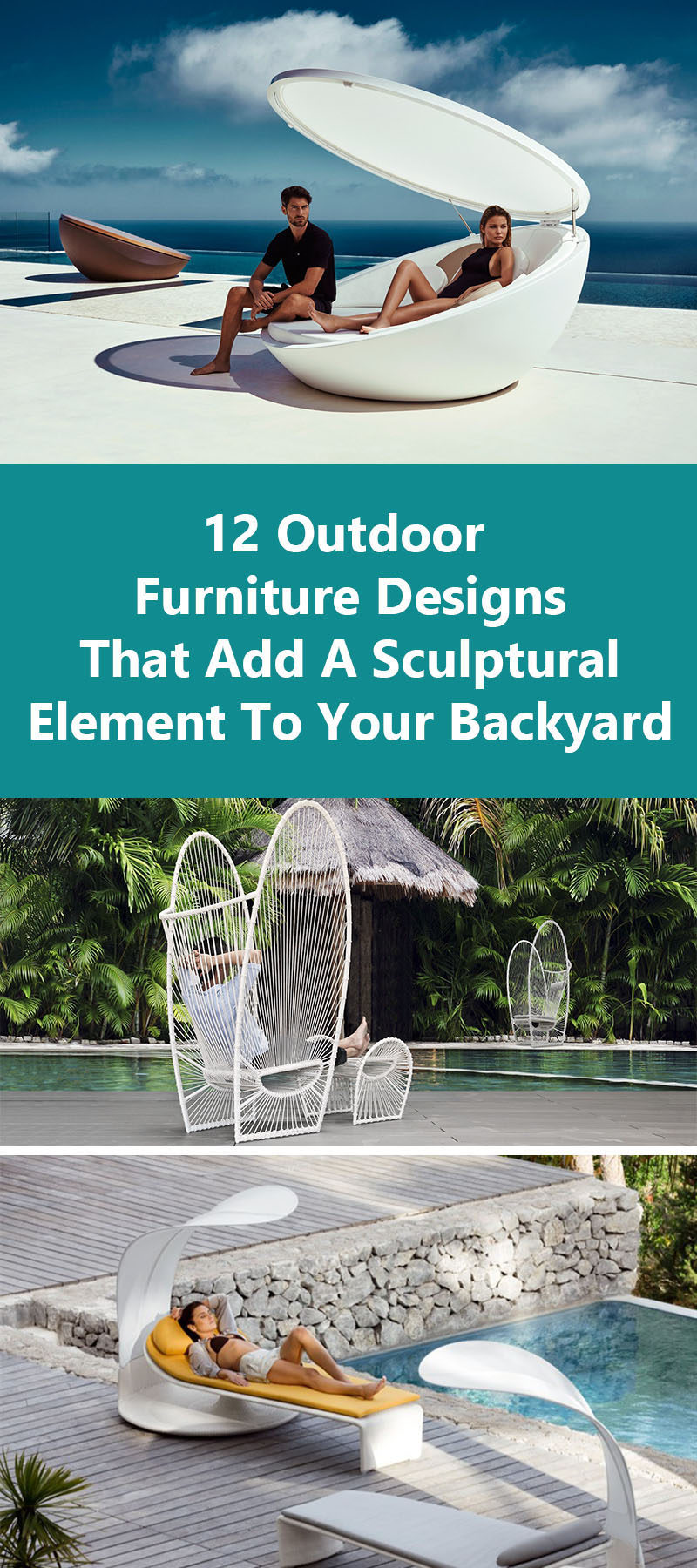 12 Outdoor Furniture Designs That Add A Sculptural Element To Your Backyard //