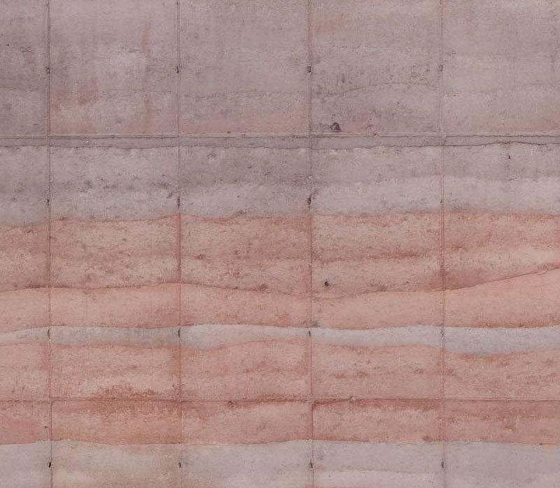 A rammed earth wall.