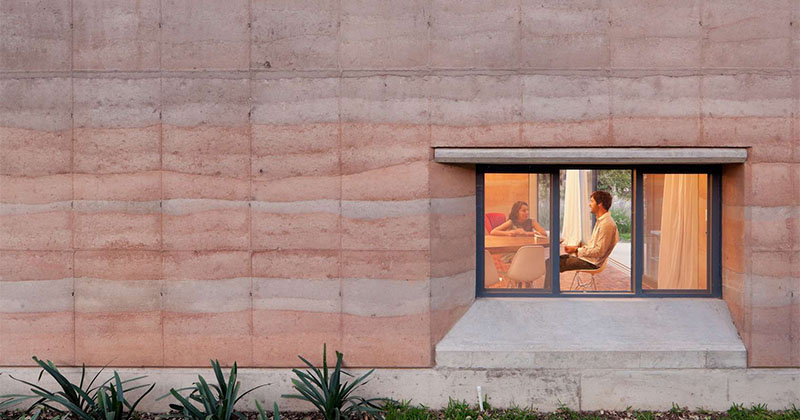 What Are Rammed Earth Walls Contemporist