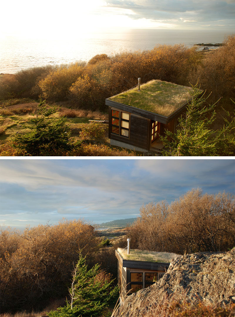 13 Totally Secluded Homes To Escape From The World // Positioned in an isolated part of the San Juan Islands, the Eagle Point cabin, designed by Prentiss Balance Wickline Architects, is secluded and cozy - two of the most important qualities in a remote getaway.