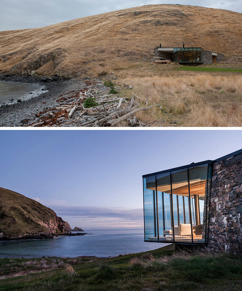 13 Totally Secluded Homes To Escape From The World // Completely isolated from the rest of the world and complete with on-site water collection and wastewater treatment, this secluded beach house has everything you'd need for a relaxing getaway.