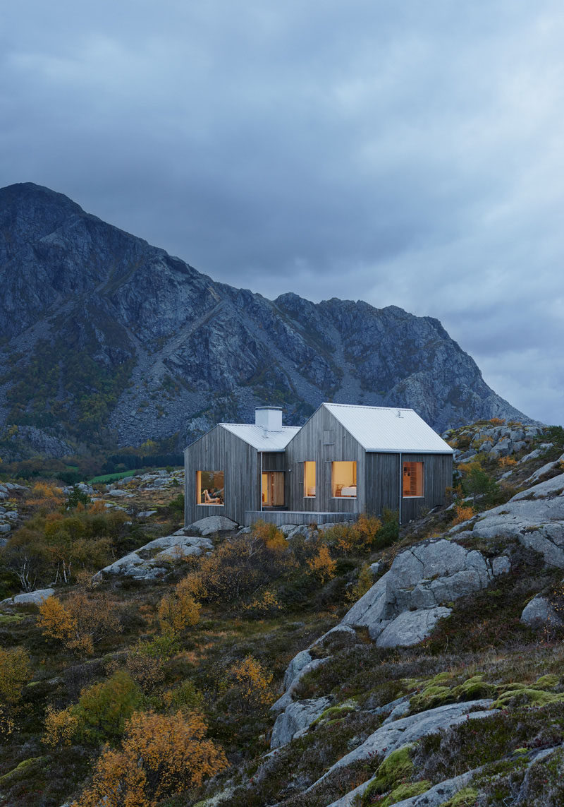 13 Totally Secluded Homes To Escape From The World // This cottage sitting on the island of Vega in Norway near the polar circle, would be a surefire way to get away from the hustle and bustle of everyday life.