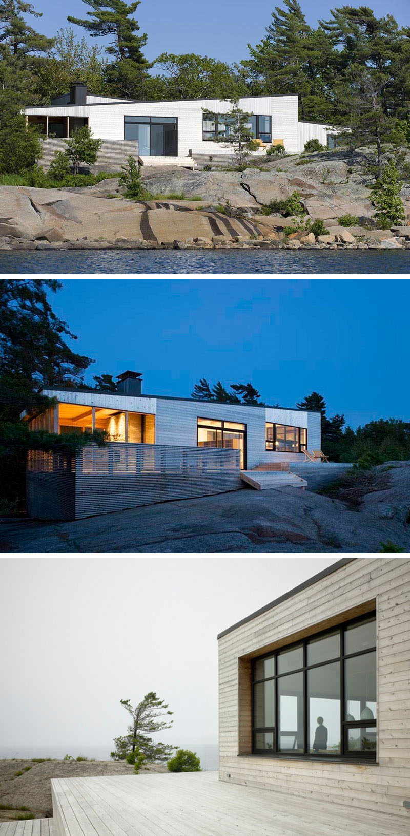 13 Totally Secluded Homes To Escape From The World // Made from local materials and built to be as non invasive as possible, this cottage in Georgian Bay, Ontario, offers beautiful views and a place to escape from everyday life.