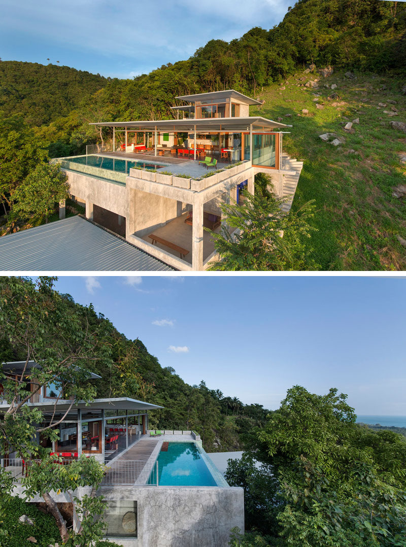 13 Totally Secluded Homes To Escape From The World // Designed to be an escape from a hectic life in the city, this five story house in Koh Samui, Thailand.