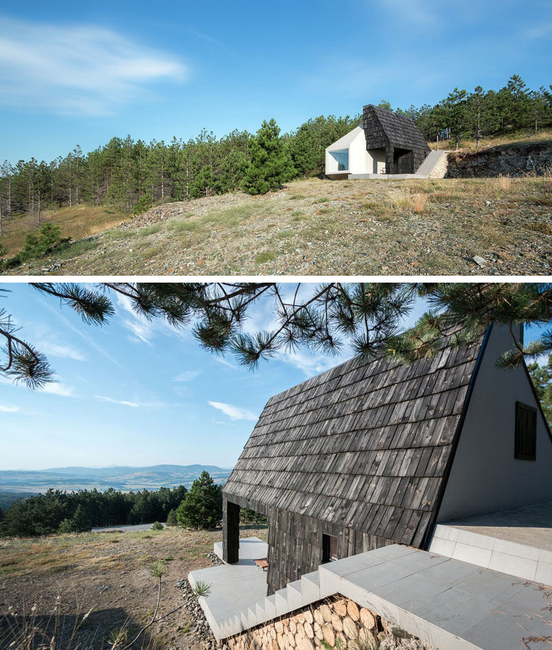13 Totally Secluded Homes To Escape From The World // It may be close to the tourist resort of Divcibare in Serbia, but tucked into the slope of Mount Maljen, it's unlikely you'll be found in this cozy home.