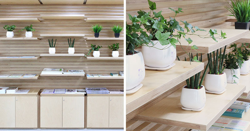 SHELVING IDEA - This Wood Slot Wall Can Reposition Shelves Anywhere