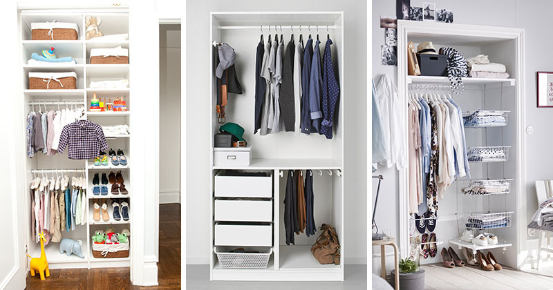 9 storage ideas for small closets contemporist. Black Bedroom Furniture Sets. Home Design Ideas