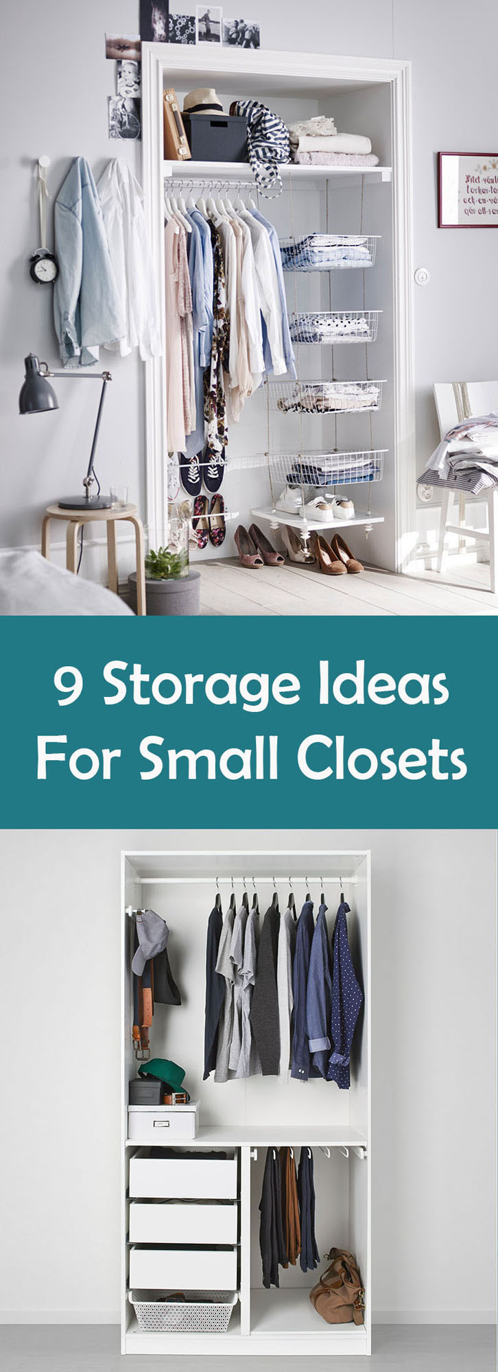 9 storage ideas for small closets contemporist for Storage solutions for small closets