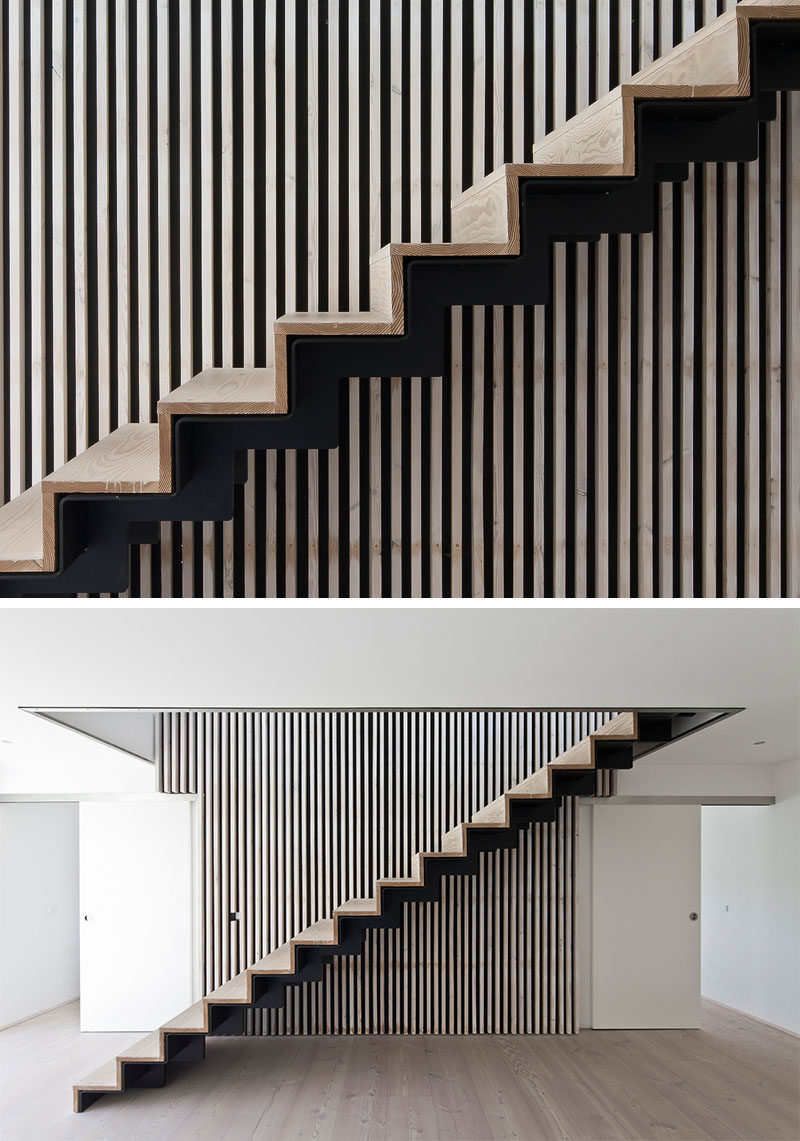 18 Examples Of Stair Details To Inspire You // These wood and black steel stairs almost create an optical illusion if you get too close!