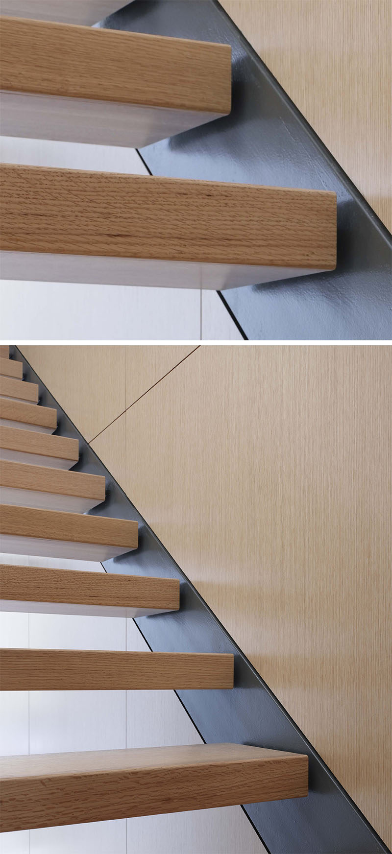 18 Examples Of Stair Details To Inspire You // The Wooden Steps Are  Attached To