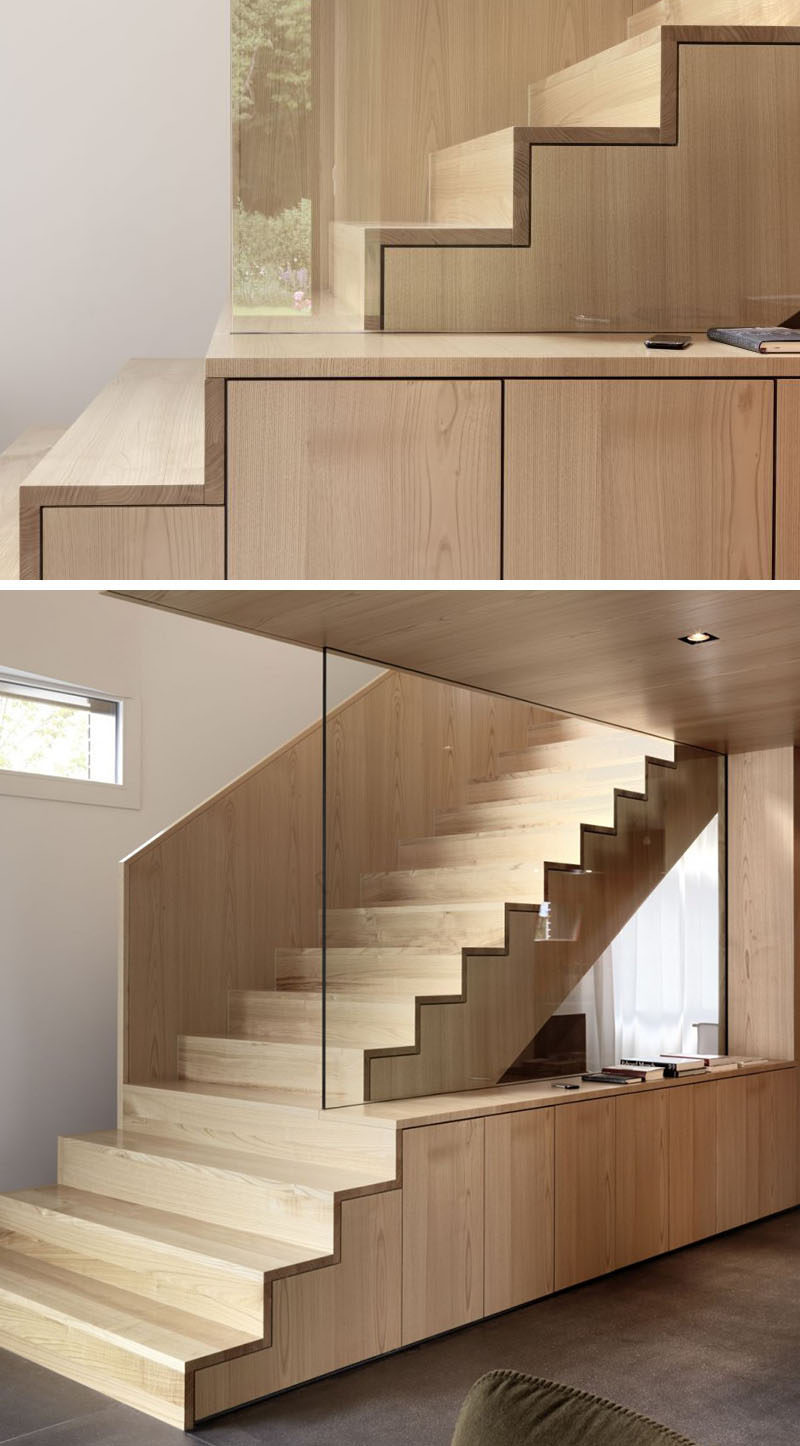18 Examples Of Stair Details To Inspire You // These Wooden Stairs Are Made  Entirely