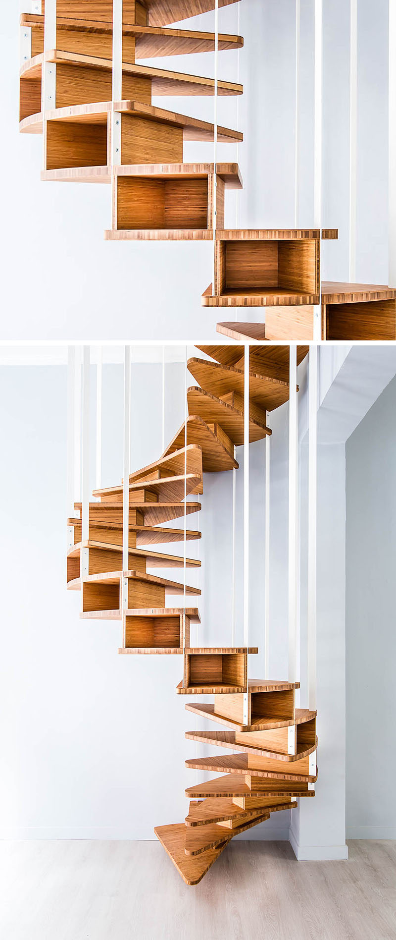 18 examples of stair details to inspire you contemporist Spiral stair details