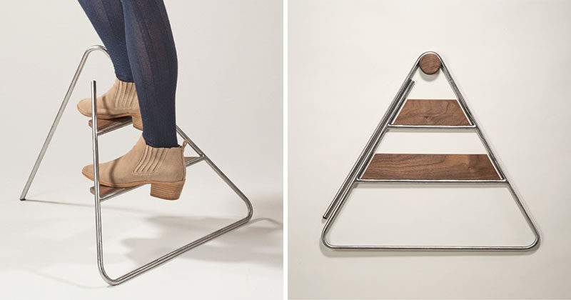 This Stylish Step Ladder Can Do Double Duty As Wall Art