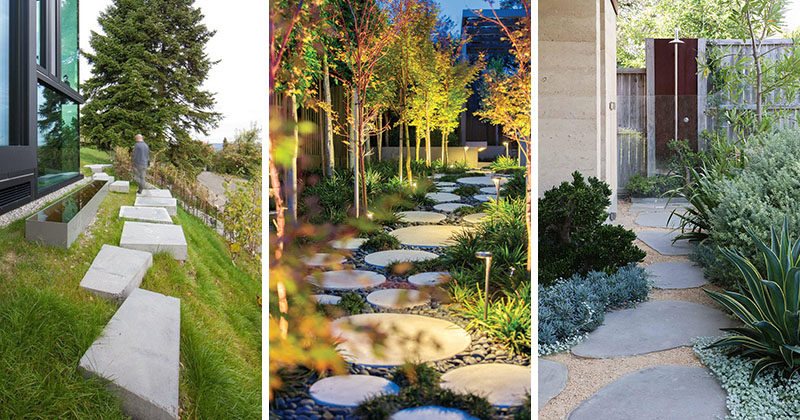 Landscaping Ideas Using Stone : Landscaping ideas for using stepping stones in your