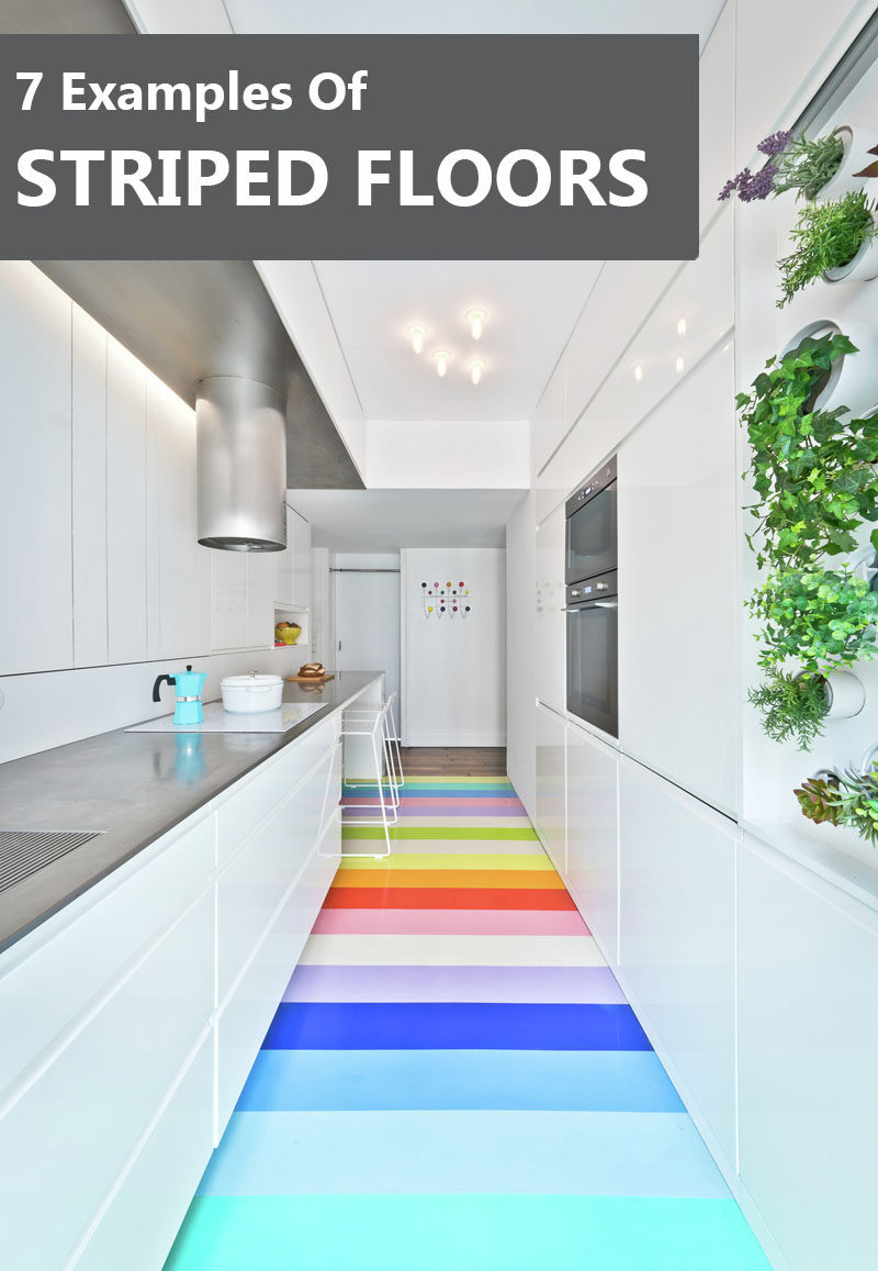 7 Examples Of Striped Floors In Contemporary Homes