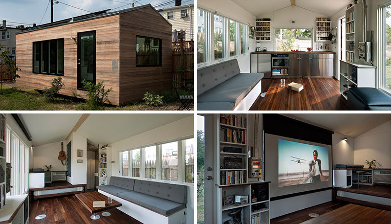 This Small House Is Filled With Design Ideas To Maximize Living This Tiny Home Measures