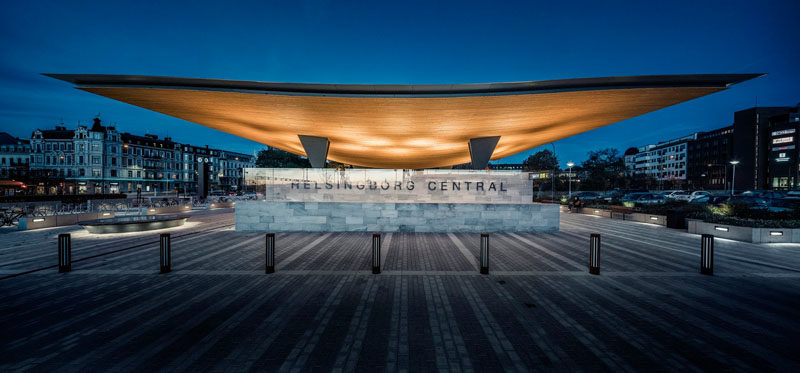 This Helsingborg Train Station Has A Dramatic New Entrance