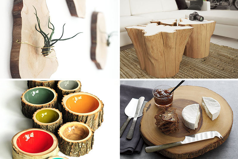 9 Ideas For Including Tree Stumps In Your Home Decor