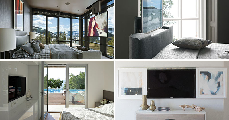 8 Ways To Include A Tv In The Bedroom Contemporist